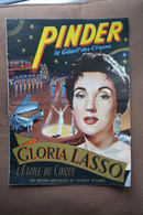 Programme PINDER-Gloria Lasso L'etoile Du Cirque-pub Slavia Au Dos-voir Scans - Programas