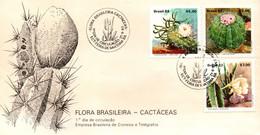 Brazil 1983, Scott 1880-1882, FDC, Cactus - Briefe U. Dokumente