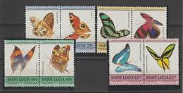 Sainte Lucie 1985 Papillons 720-727 8 Val ** MNH - St.Lucia (1979-...)