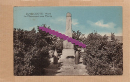 Dept 59 : ( Nord ) Zuydcoote, Le Monument Aux Morts, Arbustes, Arbres, Colorisée. - Andere Gemeenten
