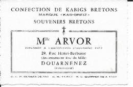 29 - Finistère - Douarnenez - Mlle Arvor - Non Classificati