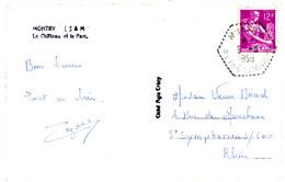 SEINE ET MARNE CP 1958 MONTRY AGENCE POSTALE - 1921-1960: Periodo Moderno
