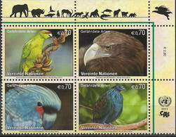 2011 UNO Wien Mi. 732-5**MNH  Gefährdete Arten - Nuevos