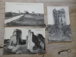 KERSAINT : 3 Cartes Ruines Du Chateau De Trémazan  ............. 201101d-3687 - Autres Communes