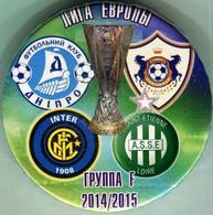 Pin Pin Europa League 2014-2015 Group F Dnipro Dnipropetrovsk Internazionale Milan Saint-Etienne Loire Qarabach Agdam 1 - Calcio
