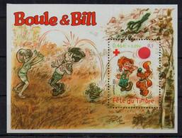 FRANCE - BOULE ET BILL - PERSONNAGES - FETE DU TIMBRE - CROIX ROUGE - RED CROSS - 2002 - M/S - B/F - - Mint/Hinged