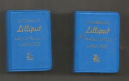 JC , Mini Dictionnaire LILLIPUT , Anglais-français , Français-anglais, 35 X 50 X 15 Mm , LOT DE 2 , Frais Fr 3.35 E - Dictionaries