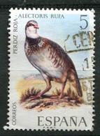 (CL 14 - P.44) Espagne Ob N° 1694 - Oiseaux : Perdrix Rouge - Grey Partridge