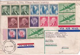 USA - SPECTACULAIRE ENVELOPPE Par AVION De SAN FRANCISCO => COMPAGNIE SOMALIE ! à MAJUNGA (MADAGASCAR) ! - Covers & Documents