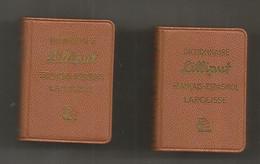 JC , Mini Dictionnaire LILLIPUT, Espagnol-français, Français-espagnol,  35 X 50 X 15 Mm , LOT DE 2 , Frais Fr 3.35 E - Dictionaries
