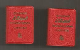 JC , Mini Dictionnaire LILLIPUT, Allemand-français, Français-allemand,  35 X 50 X 15 Mm , LOT DE 2 , Frais Fr 3.35 E - Dictionaries