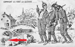 """Edition CLB Besançon - Carte """"Anti-boches"""", Non Signée. Ecrite En 1915. 3 Scan (Voir La Particularité). - Humour"""