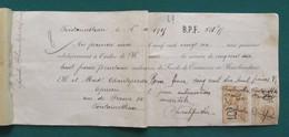 Document Financier Concernant La Cession D'un Fonds De Commerce Sis 50 Rue De France à Fontainebleau - Banque & Assurance