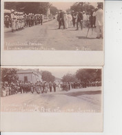 SCUTARI  -  French National Fete 14 July 1914  -  LOT DE 4 CARTE PHOTOS  - - Albania