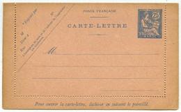(Maroc) Carte-lettre 25 Centimes Type Mouchon. - Unclassified