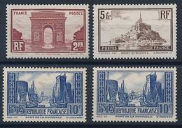 DZ-160: FRANCE: Lot Avec NEUFS SANS GOMME  N°258-260a-261 (2) - Ungebraucht