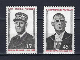 ⭐ Saint Pierre Et Miquelon - YT N° 419 Et 420 * - Neuf Avec Charnière - 1971 ⭐ - Nuevos