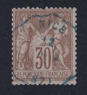 OBLITÉRATION EN BLEU De CONVOYEUR STATION DE NICE Sur SAGE TYPE 1 N° 69 - 1876-1878 Sage (Type I)