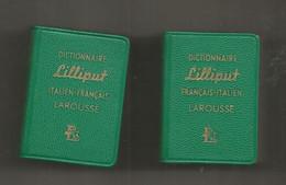 JC , Mini Dictionnaire LILLIPUT, Italien-français, Français-italien, 35 X 50 X 15 Mm , LOT DE 2 , Frais Fr 3.35 E - Dictionaries