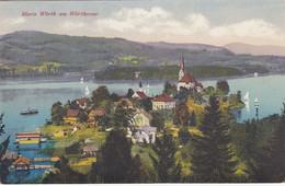 2513)  MARIA WÖRTH Am WÖRTHERSEE - Mit Seltenen DETAILS Bootshäuser Steg HAUS  Schiff TOP !! 1918 - Zonder Classificatie