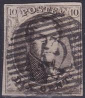 Belgie  .  OBP  . 6    .    Obl.  P42  Fontaine    .   O   .   Gebruikt   .   / .   Oblitéré - 1851-1857 Medaillen (6/8)