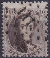 Belgie  .  OBP  .  14A    .   Obl. LP111  Engis         .   O   .   Gebruikt   .   / .   Oblitéré - 1863-1864 Medallions (13/16)