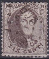 Belgie  .  OBP  .  14A    .   Obl. LP269  Neufchateau        .   O   .   Gebruikt   .   / .   Oblitéré - 1863-1864 Medallions (13/16)