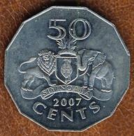 Eswatini-Swaziland 50 Cents 2007, KM#52, AUnc - Swaziland