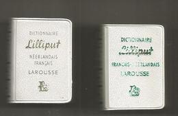 JC , Mini Dictionnaire LILLIPUT, Néerlandais-français, Français-néerlandais,  35 X 50 X 15 Mm, LOT DE 2, Frais Fr 3.35 E - Dictionaries