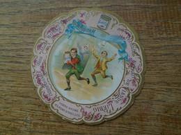 Assez Rare , 1 Image Cartonnée , Pub Liebig , Marque Place Pour Repas Avec Un Dicton , Bon Appétit M .... - Liebig