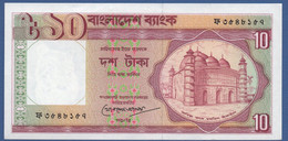 BANGLADESH - P.26c (2) – 10 TAKAsignature: Khorshed Alam (7-1993)  UNC - Bangladesh