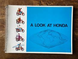 Honda Moto 1964 Catalogue En Anglais - Moto