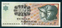 Denmark 1000,  1,000 Kroner. 1998. OLD Sign. UNC  A0981K, Bodil Nyboe Andersen - Denmark