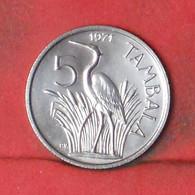 MALAWI 5 TAMBALA 1971 -    KM# 9,1 - (Nº41649) - Malawi