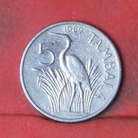 MALAWI 5 TAMBALA 1989 -    KM# 9,2a - (Nº41650) - Malawi