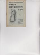 BIBLIOTECA CASALINGA SONZOGNO .  1926 -  100 MANIERE DI PREPARARE  MINESTRE  E  ZUPPE . - House & Kitchen