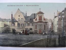 MAUBEUGE MARCHE AUX HERBES CARTE COLORISEE - Maubeuge