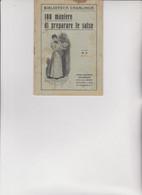 BIBLIOTECA CASALINGA SONZOGNO .  1927 -  100 MANIERE DI PREPARARE  LE  SALSE . - House & Kitchen