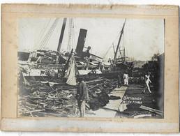 ASIE - CHINE ( HONG KONG )  BATEAU S.S PETRARSCH -  KOWLOON  ( TYPHON 1906 ) - China (Hong Kong)
