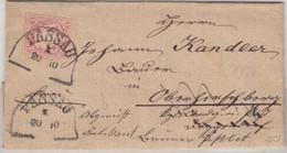 Bayern 3 Kr. Wappen Brief HKS Passau 1874 N. Deggendorf Retourvermerk Mit Inhalt - Bavaria