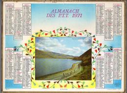 CALENDRIER GF 1971 - Peloton Du Tour De France, Imprimeur Oller - Big : 1971-80