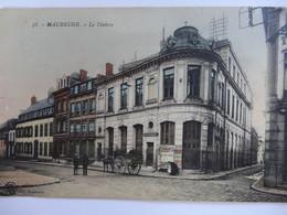 MAUBEUGE LE THEATRE CARTE COLORISEE ATTELAGE - Maubeuge