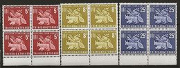 TRINITE Et TOBAGO: **, N° YT 197 à 199, Série Bdf En Blocs De 4, TB - Trinidad Y Tobago (1962-...)
