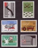 1977 TURKEY TRAFFIC REGULAR ISSUE STAMPS MNH ** - Neufs