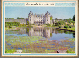 CALENDRIER GF 1972 - Chateau De La Roche-Courbon 17 Charente M, Sables D'Olonne 85, Imprimeur Oller (calendrier Double) - Big : 1971-80