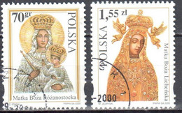 Poland 2000 - Depictions Of The Virgin Mary - Mi 3850-51 - Used - Usados