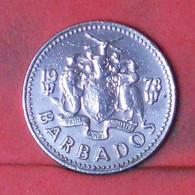 BARBADOS 25 CENTS 1978 -    KM# 13 - (Nº41674) - Barbados
