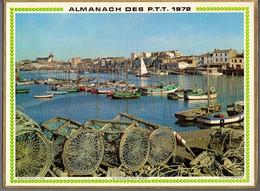 CALENDRIER GF 1972 - Vallée De L'Arve En Hiver, Les Sables D'Olonne 85 Vendée, Imprimeur Oller (calendrier Double) - Big : 1971-80