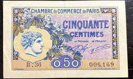 Billet De 50 Centimes - Chambre De Commerce De Paris - 1920/1922 - TB - Chambre De Commerce