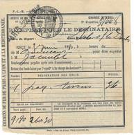 """Récépissé Colis Postal 1880 / Envoi Magasin Boucicaut (""""Au Bon Marché"""") / Gare Paris Coq-Héron (?) - Covers & Documents"""